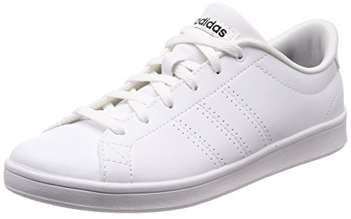 hot sale online 6e780 430b6 adidas Womens Advantage Clean Qt Fitness Shoes, White (FtwblaNegbás 000),