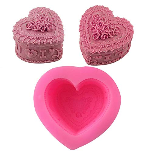 lyward Rose Love Fondant Silikon Backform Backwerkzeug West Point Backform, 2Er Pack Rose Point Dessert