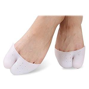 2Paar Profi Ballett Schuh Punkte Zehen Kappen Zehenschutz High Heels Spitz Zehen Schmerzen Displayschutzfolie Silikon Gel weich Pads Füße Care