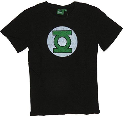 """Green Lantern Uomo Stampato Rotondo Colletto T-Shirt manica corta - cotone, Nero, 100% cotone, Small / 34""""-36"""""""