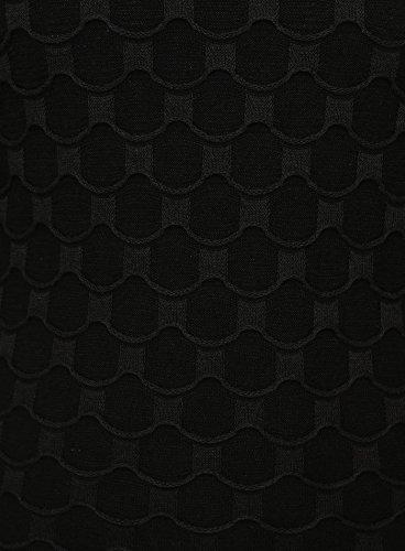 Key Largo Herren Pullover WAVE Gemustert Kreisförmig Langarm Leicht kombinierbar Schwarz