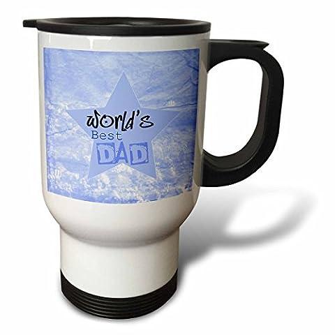 statuear Blue Star Fathers Day 14-Ounce Tasse de voyage en