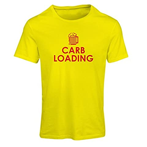 T-shirt femme Carb Loading - citations de fitness drôle, vêtements d'entraînement (XX-Large Jaune Rouge)