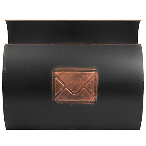 Wand Briefkasten Wandbriefkasten Postkasten Mailbox mit Zeitungsrolle Zeitungsfach Zeitungsbox / Bronze - 4