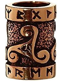 NKlaus Bijoux cheveux perle Triruna Triskel Perle de Barbe avec runes Bronze Perle de boucles 6414