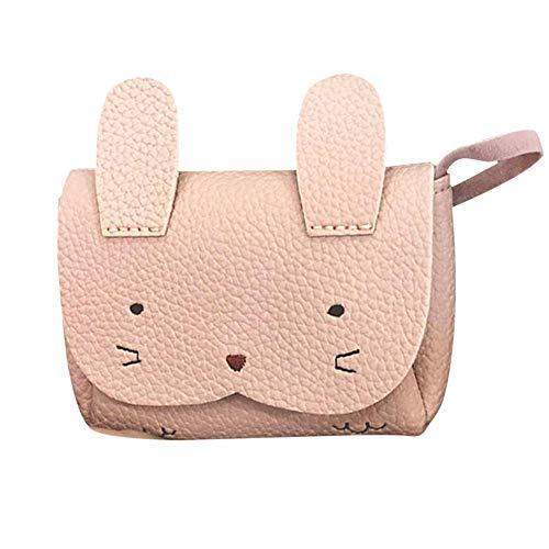 Kinderhandtasche, nettes Mädchen Kinderhandtasche Kinder Cartoon Tier PU Schulter Messenger Bag(Rosa) -