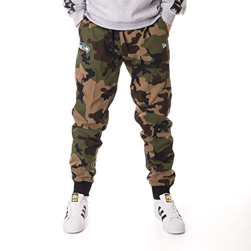New Era Herren Hosen/Jogginghose Woodland Seattle Seahawks Camouflage S