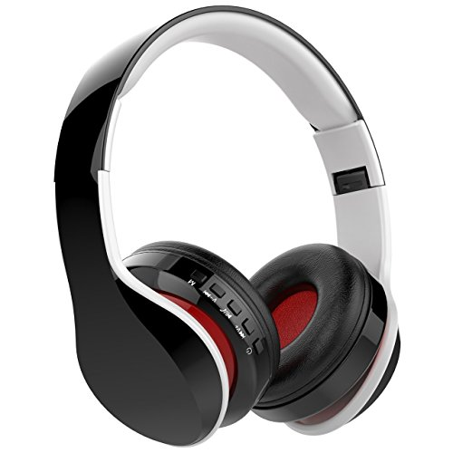 NickSea Auriculares Inalámbricos Bluetooth con Micrófono Auriculares Duraderos de Reproducir, Cascos Bluetooth Audio para iPhone y Android
