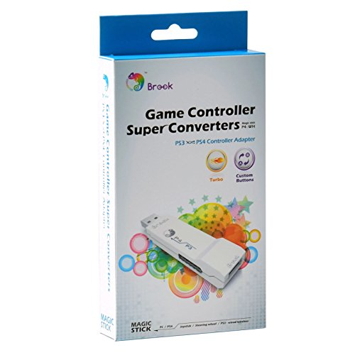 Mcbazel Brook Super Converter PS3 to PS4 Controller Gaming Adapter with FREE Keychain