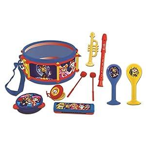 LEXIBOOK-La Patrulla Canina-Set Musical de 7 Instrumentos en 1, 100% Disney, Juguete niño K360PA, Color Azul (7)