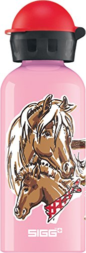 Trinkflasche Sigg Pink (SIGG Let's Run, Kinder Trinkflasche, 0.4 L, Auslaufsicher, BPA Frei, Aluminium, Pink)