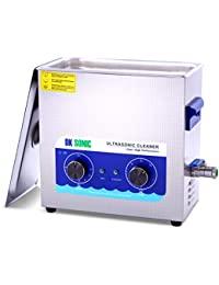 Commercial Ultrasonic Cleaner-DK SONIC 6L 180W Sonic Cleaner with Heater Basket for Jewelry,Denture,Coins,Metal Parts,Carburetor,Fuel Injector,Record,Circuit Board,Brass etc