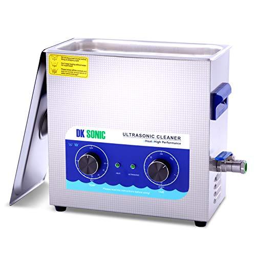 DK SONIC Professionale 6,5L Pulitore ad Ultrasuoni con Funzione di Riscaldamento Pulitore Ultrasuoni per dei Gioielli Occhiali Lenti Protesi Catene Iniettore Collana Orologi Rasoi Occhiali