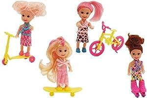GLOBO 10Cm Dolls W/Access. 4 Asst 12 Piezas D/Box (38871), Multicolor