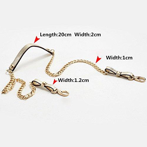 Gzhouse catena in pelle cinghia tracolla sostituzione della spalla Blue Gold