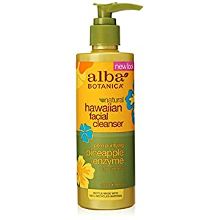 Alba Botanica Hawaiian Enzyme Face Cleanser, Pineapple, 8 oz