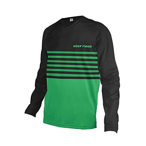 Uglyfrog 2020 Uomini Racewear Jersey MTB/Downhill Cycling Jersey Manica Lunga DH Maglia Motocross Offroad Inverno Vello Caldo Top HIHerDownTZR03
