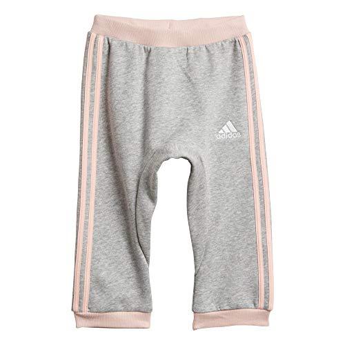 adidas Baby Fav Hose, Medium Grey Heather/Haze Coral/White, 104