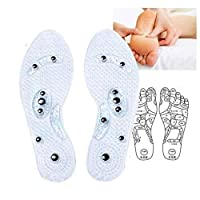 Zihuist Magnetic Therapy Massage Insole Improve Blood Circulation Fight Against Plantar Fasciitis Relieve Feet Pain for Men Women 1Pair