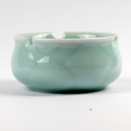 Lx.AZ.Kx Celadon Porzellan Keramik Aschenbecher Tee Zubehör, Toner-Ching -