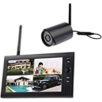 Wireless 2.4GHz Camera & DVR, 7 inch Resolution TFT Digital