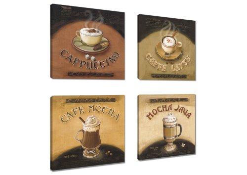 Cuadros en Lienzo 4x20 x 20 cm Nr. 6903 café enmarcado y listo para colgar, calidad de la marca Visario
