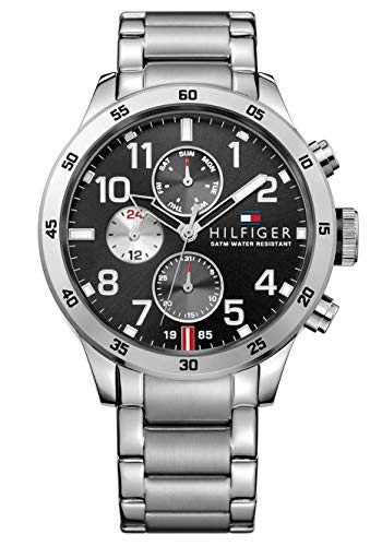 Tommy Hilfiger Herren Analog Quarz Uhr mit Edelstahl Armband 1791141