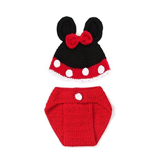 EEOZY Fotografie Prop Baby-Kostüm Stricken Handarbeit Neugeborene Kostüm (Kostüm Bilder Maus Mickey)
