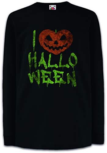 I Love Halloween Kinder Kids Mädchen Jungen Langarm T-Shirt