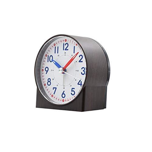 Wecker Mute Sweeping Schlafzimmer Kleine Quarzwecker Mute Nachttischuhr Lazy Sleepy Wake Up Clock Harz Desktop Clock