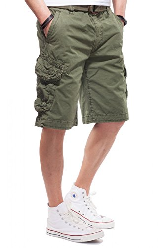 JET LAG Herren Cargo Shorts Take off 3 Modell 16 in schwarz, olive, stone, cement, gold und camouflage Oliv
