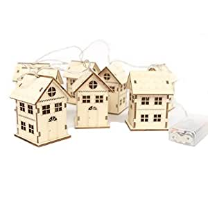 Gisela graham d corations de no l guirlande bois for Decoration de noel amazon