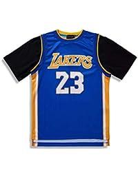 a8c84059b Los Angeles Lakers informal de Manga Corta Camiseta