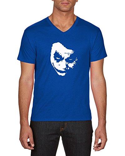 Touchlines Joker Heath Leadger, Camiseta para Hombre, Azul (Royal), S