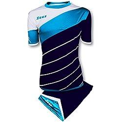 Zeus Kit Lybra Equipaciòn para el Fùtbol y el Voleibol Para Hombre Sport Pegashop Colour Azul-Luz Royal-Blanco (L)