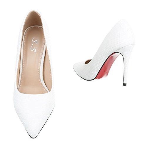 Ital-Design , chaussures compensées femme Weiß