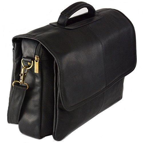 Hammer Anvil Solano Colombian Vacquetta Messenger Bag Laptop Aktentasche - Schwarz - Einheitsgröße - Business Portfolio Briefcase