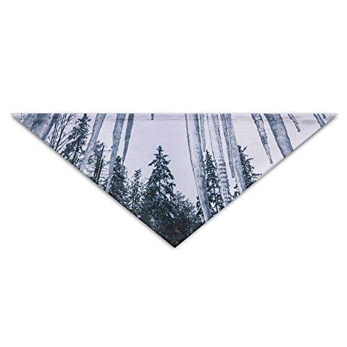 Gxdchfj Icicle and Tree Turban Triangle Scarf Bib Scarf Accessories Pet Cat and Baby Puppy Saliva Dog Towel -