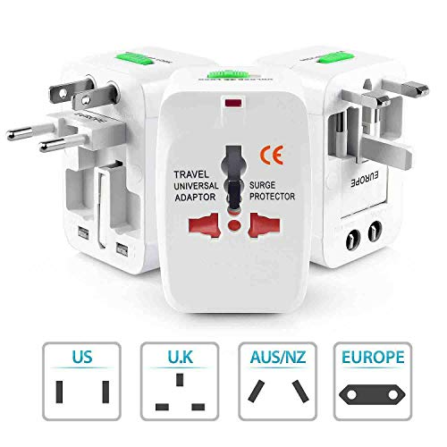 Global Craft Travel Universal World Wide Adaptor/All in 1 EU + AU + UK + US Plug Model 113671