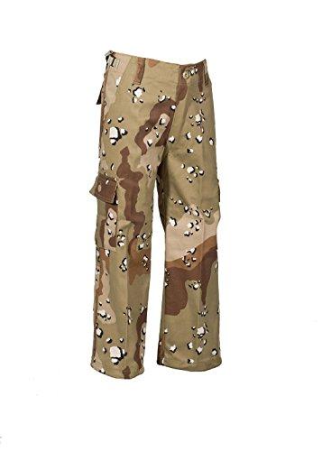 Robuste + Komfortable US Style Kinder Jungen Mädchen Rangerhose Freizeithose Kampfhose viele verschiedene Farben S-XXXL (L (146/152), 6 Farben Desert)