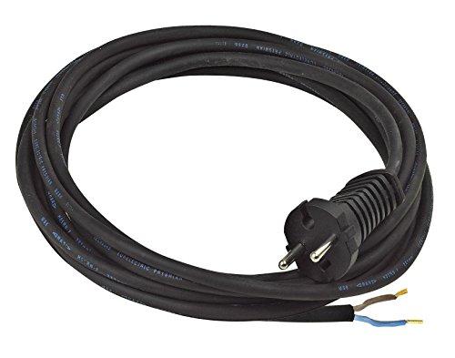 Brennenstuhl Cordon d'alimentation (3 m) avec fiche 2P (16A/230V) et câble H07RN-F 2x1,5, noir, Quantité : 1