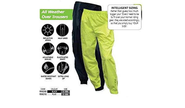 Oxford Rain Seal All Weather Water Resistant Over Trousers Black 3XL RM2003XL