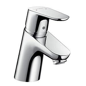 Hansgrohe 31951000 Focus 70 Grifo de lavabo, con consumo de agua reducido, con vaciador automático, Cromo, 70 mm