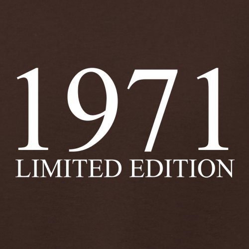 1971 Limierte Auflage / Limited Edition - 46. Geburtstag - Damen T-Shirt - 14 Farben Dunkles Schokobraun