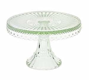 tortenplatte mit fu gemustertes glas kuchenplatte lisbeth dahl k che haushalt. Black Bedroom Furniture Sets. Home Design Ideas