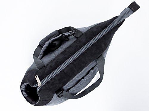Hobbydog Gate GZC6Carrier Carrying Bag Cat Carrier Size 22x 20x 36cm, Grey/Black 3