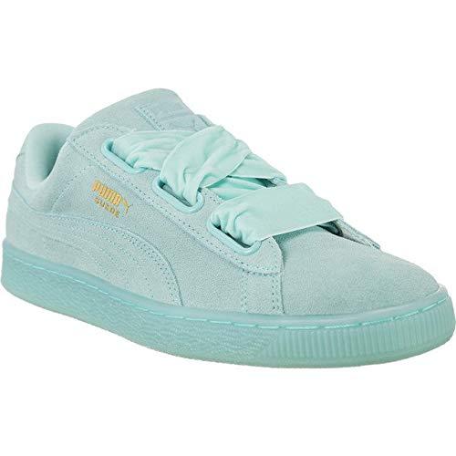 Puma Suede Heart Reset Damen Sneaker Blau 40.5 EU (7 - Puma Mint Sneaker