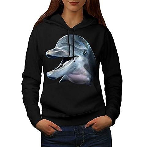 Dolphin Face Cute Animal Women XL Hoodie |