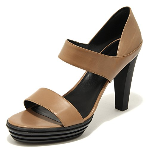 48880 sandalo HOGAN OPTY FASCIA TALLONE scarpa donna shoes women Marrone chiaro