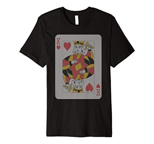 King Herzen T-Shirt PLAY Win Poker Party Player Kostüm